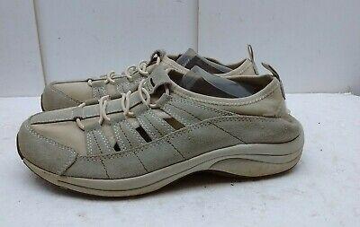 Easy Spirit Women Brown Leather Fabric Sneaker Instep Sandals Slip On Shoe 9M 41 ()