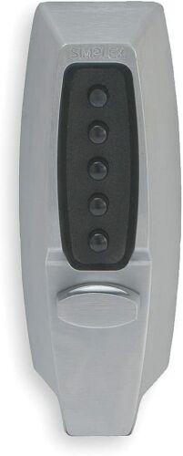 Kaba Simplex Thumbturn Mechanical Pushbutton Deadbolt Satin Chrome - 7108-26D-41