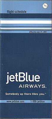 Jetblue Airways System Timetable 7 25 01  6061   Buy 4  Save 50