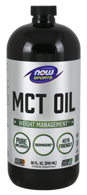 NOW Foods MCT Oil 32oz Thermogenic Coconut Add to Protein Co