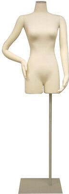 Adult Female Flexible And Pinnable Mannequin 34 Torso Dress Form With Base