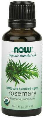 Essential Oil Certified Organic Rosemary 100% Pure, Vegan 1 oz/ 30 ml- Now Foods Foods Rosemary Oil