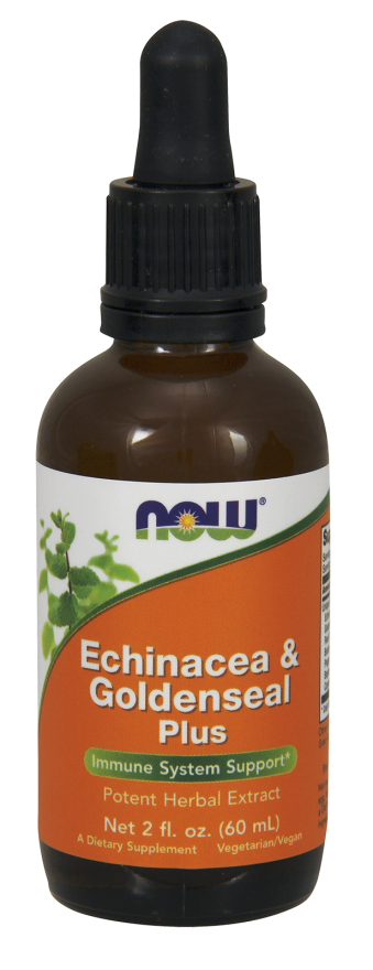 Now Foods Echinacea &/Goldseal Plus Extract, 2-Ounce