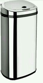 Dihl Rectangle Sensor Bin, Stainless Steel, Chrome, 42 Litre