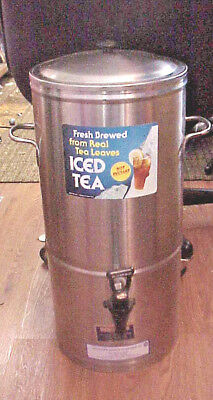 Commercial 5 Gallon Stainless Steel Ice Tea Beverage Dispenser Server