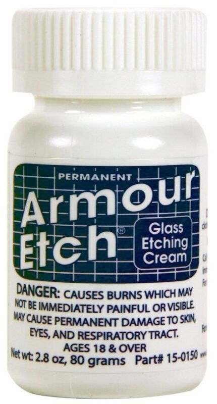 "Armour Etch Glass Etching Cream ~ 2.8 oz jar ""SHIPS TODAY""3"
