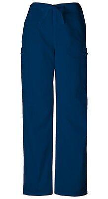 Cherokee Workwear Scrubs Men's Cargo Scrub Pants 4000 Navy - Navy Blue Scrub Pants