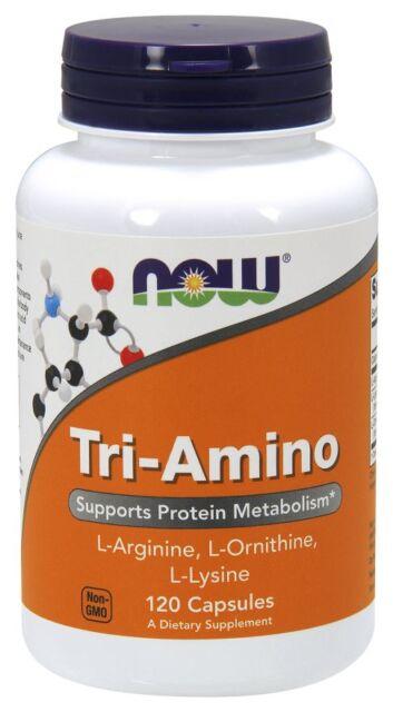 New - NOW Foods Tri Amino 120 Caps
