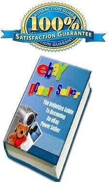 NEW eBay Power Seller eBook with Full Master Resell Rights + Bonus+...