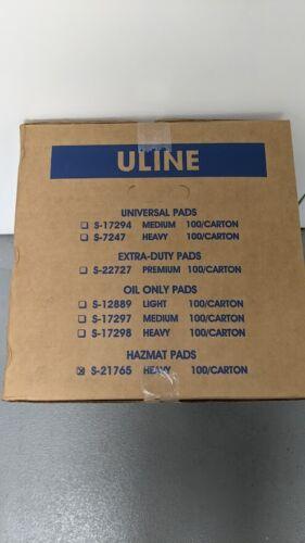 """Uline Hazmat Sorbent Pads - 15 x 19"""", Heavy Duty S-21765"""