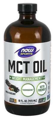 NOW Foods Vanilla Hazelnut MCT Oil 16oz. Weight Management T