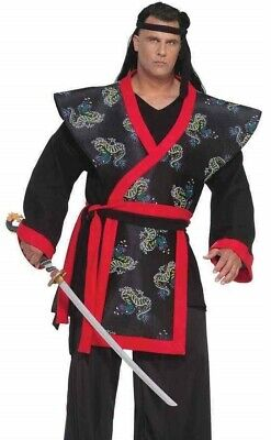 Super Samurai Costume Deluxe Martial Arts Ninja Warrior - Plus Size 3XL XXXL -