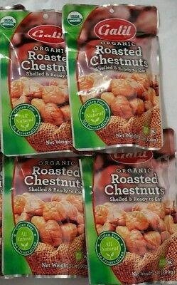 Galil Organic Roasted Chestnuts 4 Pack Shelled   Ready To Eat   Special Price