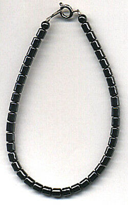 Extra Large 4mm Cylinder Shaped Hematite Anklet - 11 1/2 Inches (FREE SHIPPING)