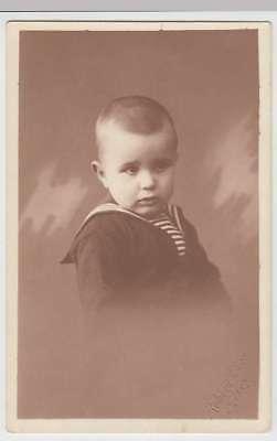 (35953) Foto AK Portrait kl. Junge Horst Maurer, Fotograf R. Does, Alzey 1920er