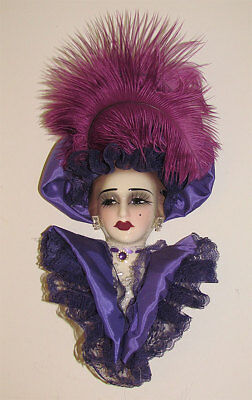 """""""Clearance"""" Consonant Creations Lady Victorian Face Mask Wall Hanging Decor"""