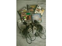 Sony playstation 1 with games