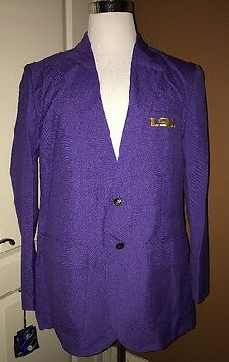 LSU Tigers Football GAME DAY Blazer Sport Coat NWT Purple Yellow Embroidered