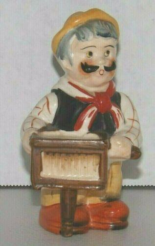 Vintage Ardalt Organ Grinder Man w Mustache Salt Shaker No Monkey Japan Figural