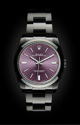 Rolex Oyster Perpetual 39mm Red Grape Black DLC Stealth Superalloy 904L 114300