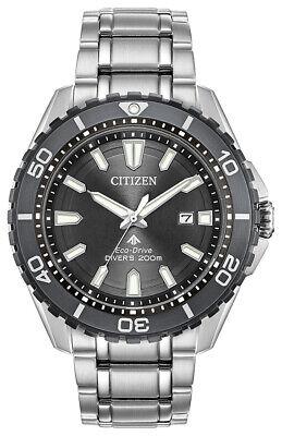 Citizen Eco-Drive Promaster Diver Men's Silver-Tone 45mm Watch BN0198-56H