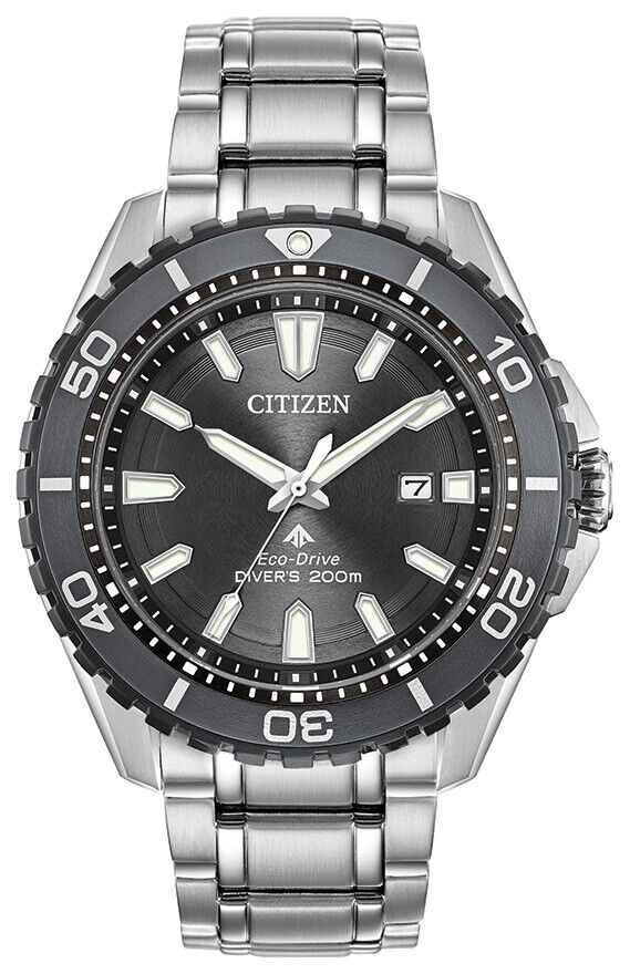 Citizen Eco-Drive Promaster Diver Men's Silver-Tone 45mm Watch BN0198-56H