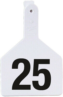 Z Tags Cow Ear Tags White Numbered 76-100