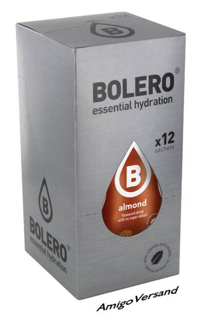 Bolero DRINKS – Almond (Mandel) Getränke Pulver - 12 Beutel für 18-36 Liter