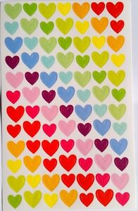 Rainbow Colourful Seal Heart Cute Stickers Scrapbook Decorating DIY for Children