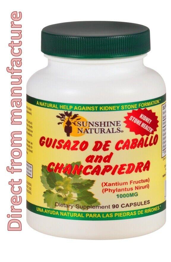 Guisazo de caballo chancapiedra 90 capsulas 1000 mg rinones prostatitis sunshine
