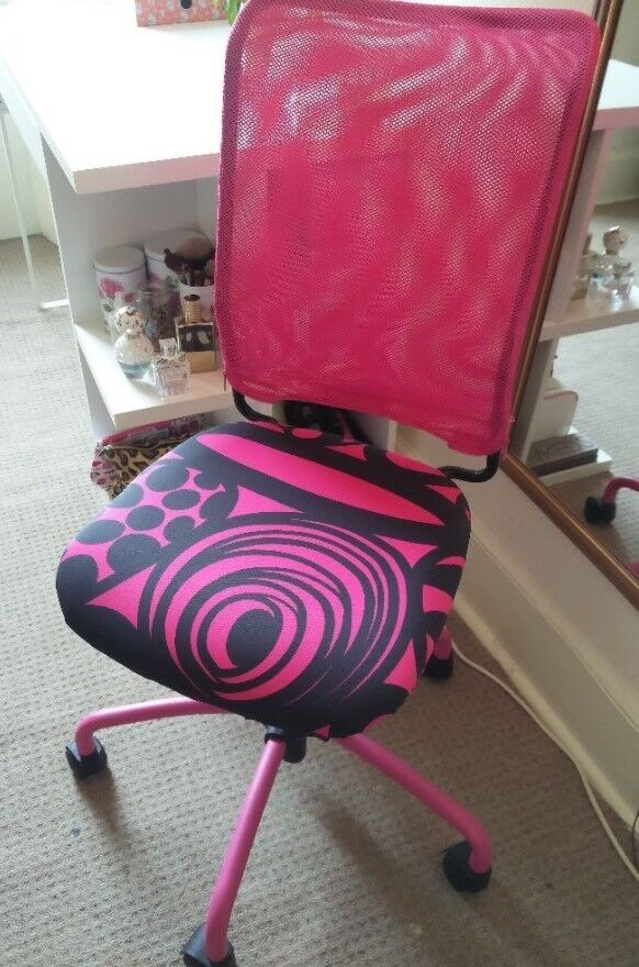 Pink And Black Girls Swivel Desk Chair Ikea Torbjorn In