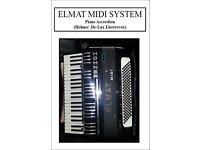 Elmat Midi Piano Accordion+ Yamaha EMT1 Midi Expander PSU & Leads REDUCED £25