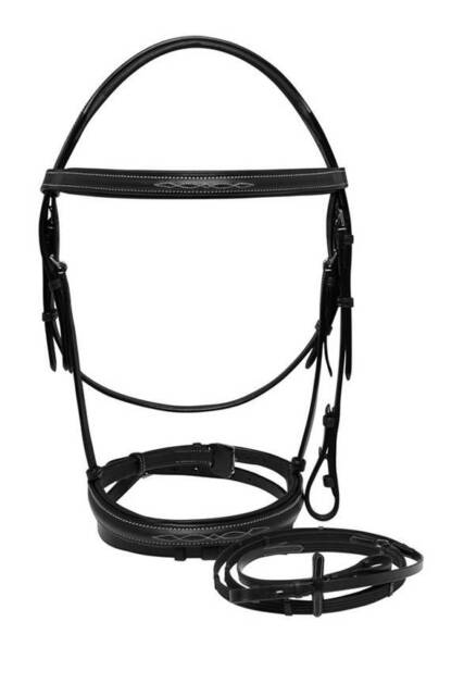 New Palermo English Leather Fancy Stitch Horse Bridle And Reins F