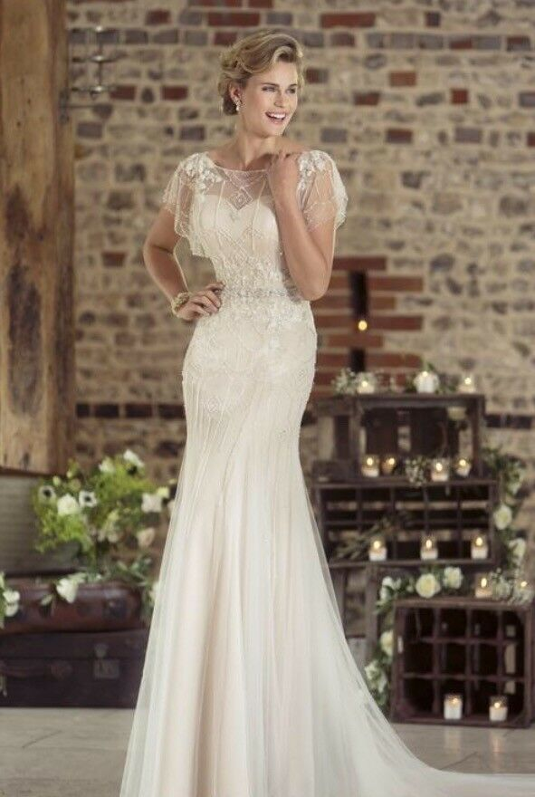 True Bride W239 Art Deco 1920\'s Vintage Style Wedding Dress Size 8 ...