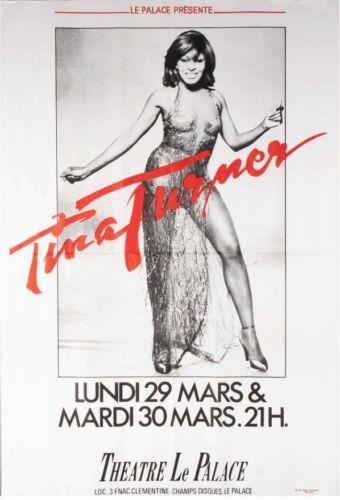 TINA TURNER PARIS 1982 French concert poster 44x63 RARE