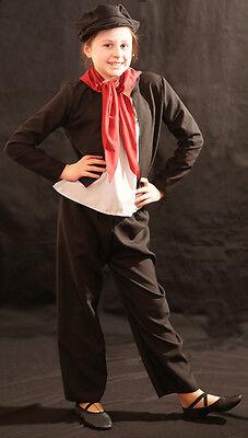 Viktorianisch/Edwardianisch/Oliver/Bettler Schwarz Schornsteinfeger/Bengel - Viktorianischer Bettler Kostüm