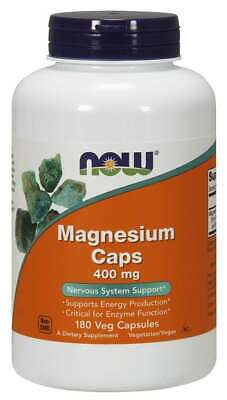 NOW Foods Magnesium Caps 400mg 180 Caps Nervous System 02/22EXP