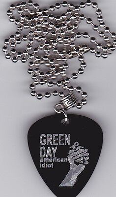GREEN DAY AMERICAN IDIOT GUITAR PICK  PENDANT NECKLACE #2 CUSTOM ENGRAVED