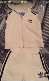 Adidas shorts n body warmer