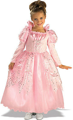 Deluxe Girls Pink Princess Costume Gown Fancy Dress Child Fairy Tale M Kids NEW (Deluxe Fairy Costume)
