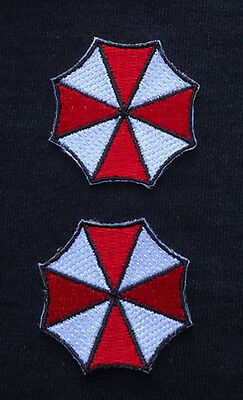 Resident Evil Umbrella embroidered 1.5 inches 2pc hat Patch set