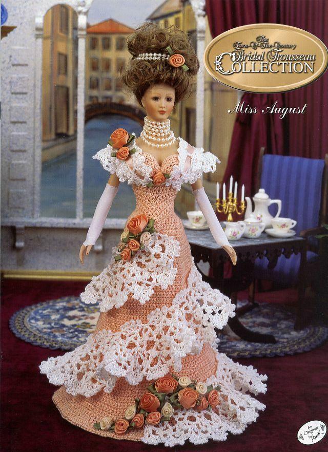 Bridal Trousseau crochet pattern booklet NEW Miss July ~ fits Barbie dolls