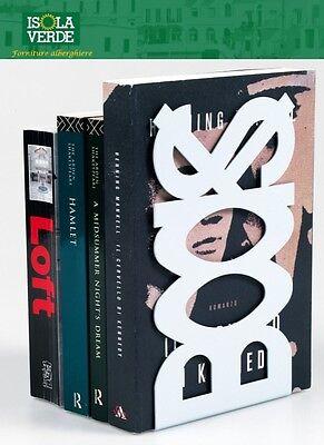 FERMALIBRO IN ACCIAIO MOD.BOOKS ROSSO, BIANCO, ARGENTO E NERO FIG.48660