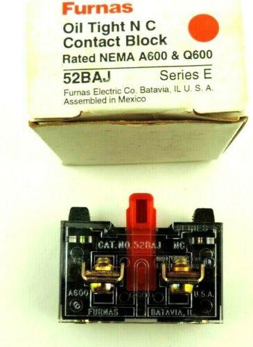 Lot of 7 Furnas Oil Tight N.C. Contact Block 52BAJ Series E NEMA A600 & Q600