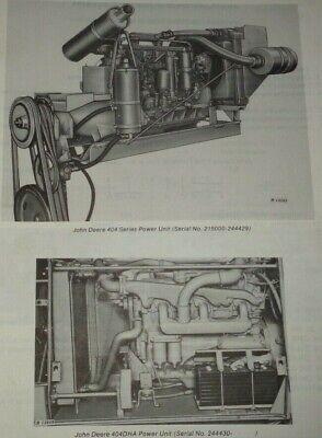 John Deere 404 Series Power Unit Engine Parts Catalog Manual Sn 215000-422364