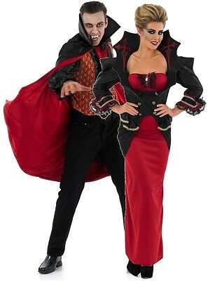 Couples Ladies AND Mens Vampire Matching Halloween Fancy Dress Costumes Outfits](Vampire Couples Costumes)