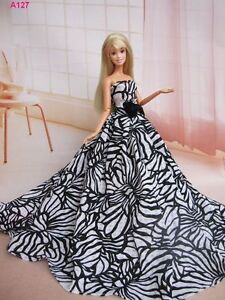 fashion-Handmade-Wedding-Clothes-party-Dresses-Gown-Outfit-for-Barbie-Doll-A127