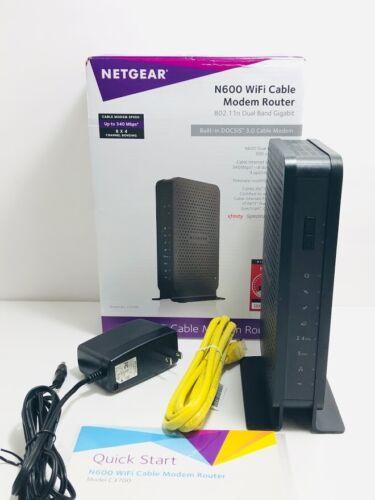 NETGEAR C3700 Gigabit N600 Dual Band WiFi DOCSIS 3.0 Cable Modem Router