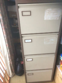 industrial metal four drawer fileing cabinet