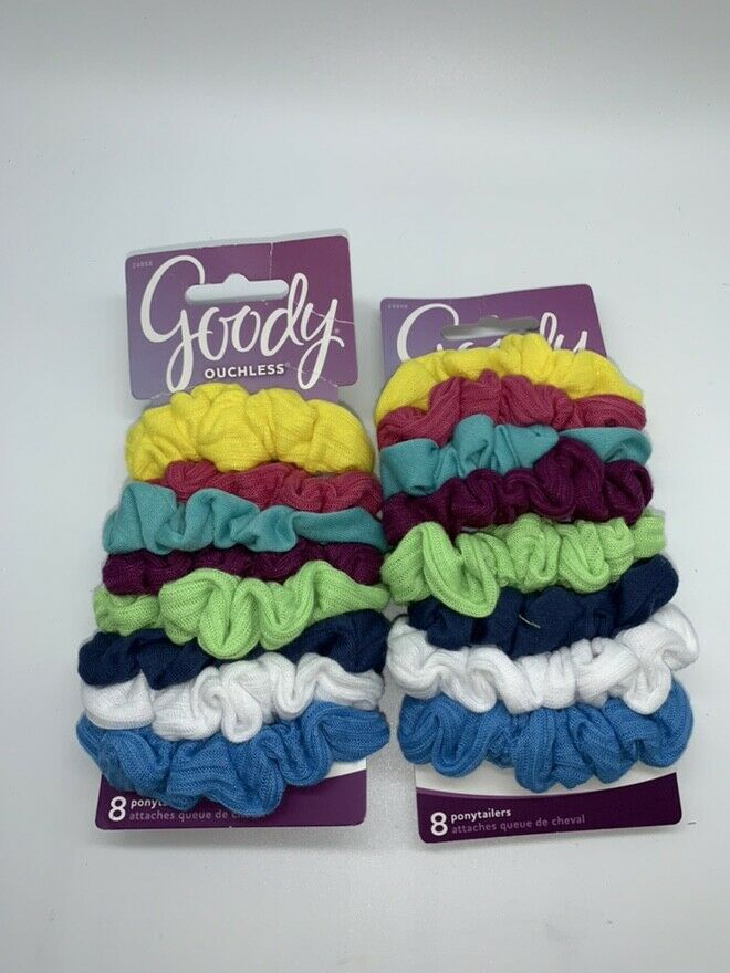 Goody Ouchless Hair Scrunchie Jersey, Variety, 8 Count